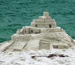 Global Warming Sand Castle
