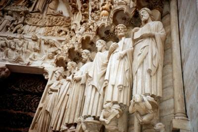 Notre Dame statuary, Paris, France (Scarborough photo)