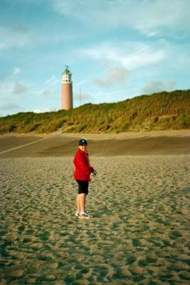 Kite-Flying  Near the Lighthouse, Texel (Scarborough photo)