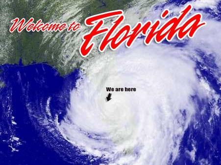 The Fun Zone During Hurricane Season (Florida postcard)