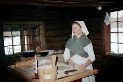 Baking demonstration, Norsk Folkemuseum, Oslo (Scarborough photo)