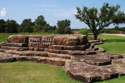 Entrance to Osage Hills State Park near Pawhuska, Oklahoma (Scarborough photo)
