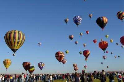 Early morning at the Albuquerque, New Mexico Balloon Fiesta (Scarborough photo)