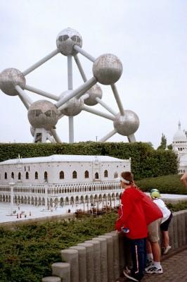 Mini-Europe, with the giant Atomium behind it (Scarborough photo)
