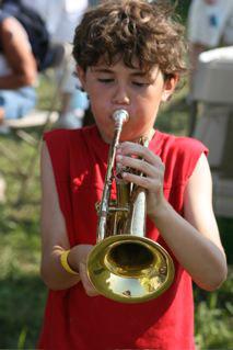 The Instrument Petting Zoo at Symphony in the Flint Hills, Kansas (courtesy Kansas City Symphony)