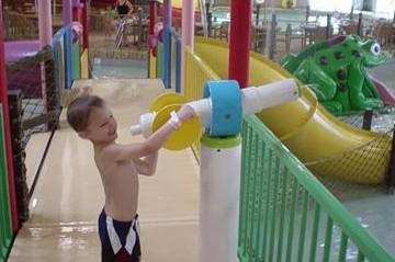 Water park play at Fun City, Burlington, Iowa (courtesy Jessica O'Riley)