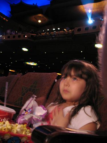 Enthralled movie watcher at Atlanta's Fox Theatre (courtesy hoyasmeg at Flickr CC)