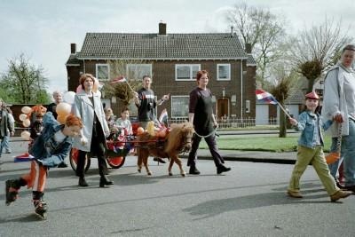 Queen's Day (Koninginnedag) village parade, Schinveld, the Netherlands (photo by Sheila Scarborough)