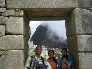 Shashi and his family take in Machu Picchu in Peru (photo courtesy Shashi Bellamkonda)