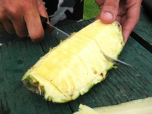 Fresh pineapple after a Waimea Canyon hike on Kauai (photo by Sheila Scarborough)
