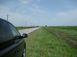 Long stretches of farm land near Nome, Texas (photo by Sheila Scarborough)