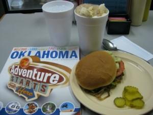 Johnnie's Grill onion burger in El Reno, Oklahoma (photo by Sheila Scarborough)