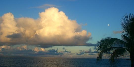 Sky at Sundown on the East side of the Big Island around 6:00