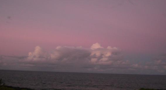 Sundown around 6:30 on the East Side of the Big Island