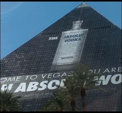 Absolut Vodka banner at Luxor Las Vegas