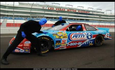 Blue Man Group At NASCAR