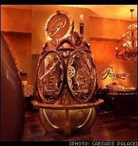 Payard chocolate clock at Caesars Palace Las Vegas