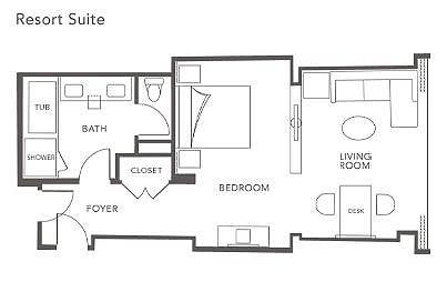Encore Las Vegas suite floor plan