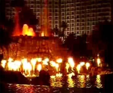 Mirage volcano in Las Vegas