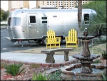 Airstream trailer at KOA Circus Circus Las Vegas