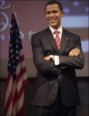 Obama wax statue at Madame Tussauds Las Vegas