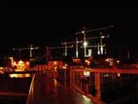 Athlone cranes nighttime