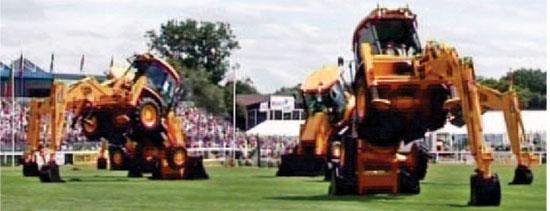 Dancing Diggers at Ploughing Championships