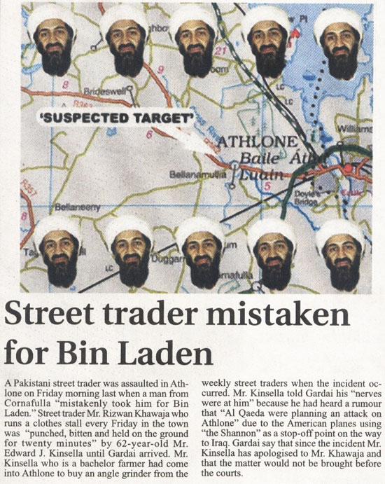 Osama Bin Laden in Athlone