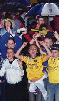Roscommon fans celebrate