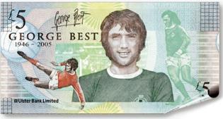 George Best five pound northern irish banknote