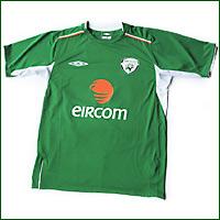 Irish soccer jersey