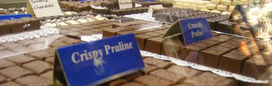 Leonidas chocolates on display