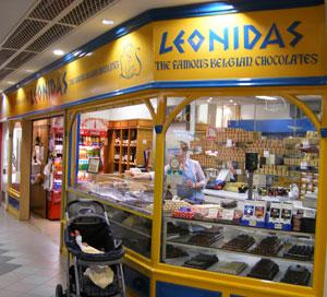 Leonidas chocolate shop
