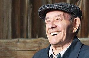 old Irish man laughing