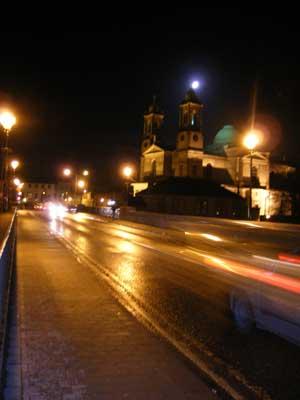 Athlone town bridge by night