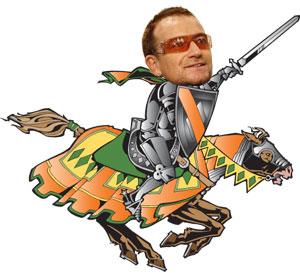 Bono as a knight