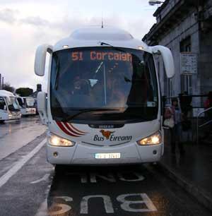 A bus eireann bus bound for corcaigh
