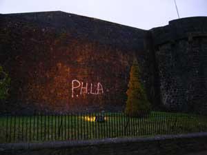 Athlone Castle with graffiti