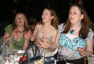 Irish company christmas party singers