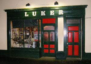 Luker's Pub in Shannonbridge, the old shopfront