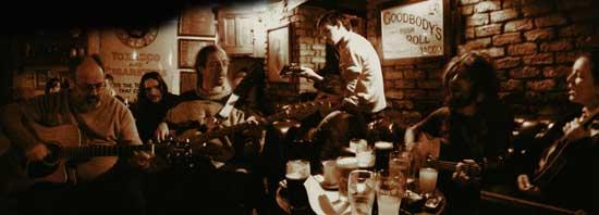 The shack pub, athlone with crowded irish music session underway