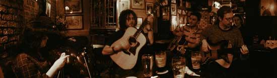 Irish music session in the shack pub, athlone