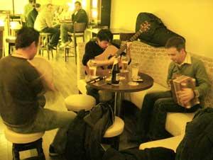Traditional Irish music session in Bar Metro, Athlone