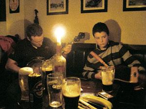 Traditional Irish music session in Shine's bar, Athlone
