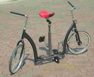 Irish sideways bike