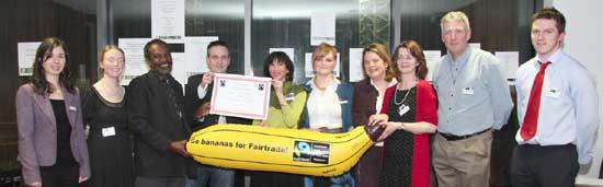 Athlone Committee receives their fair trade banana
