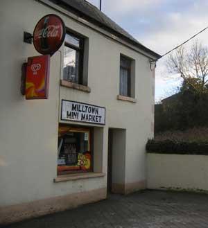 The Milltown Mart, closed shopfront