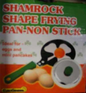 shamrock-shaped egg frying pan