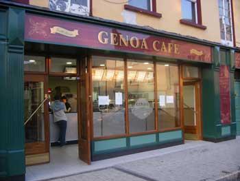 the new shopfront of Athlone's genoa cafe