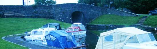 The royal canal bridge behind the nanny quinn's